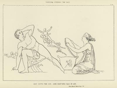 Pandora Opening the Vase-John Flaxman-Giclee Print