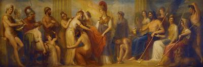 Pandora, Whom the Assembled Gods, Endowed with All their Gifts...', 1834 (Oil on Mahogany Panel)-Henry Howard-Giclee Print