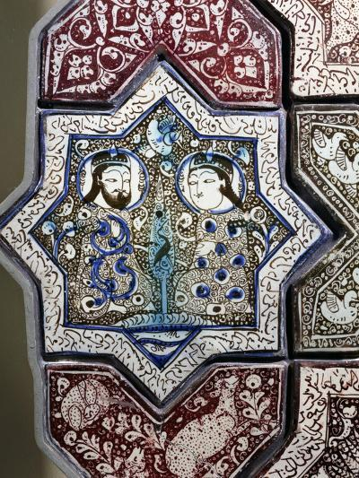Panel, Ceramic, from Damghan Tomb, Kashan Province, Detail, Persia, 13th-14th Century--Giclee Print