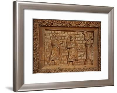 Panel from 5C Door: St Peter and the Crowing Cock--Framed Giclee Print
