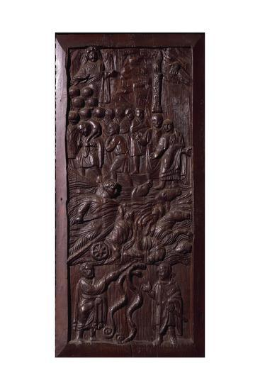 Panel from Wooden Door of Basilica of St Sabine, Rome, Italy, 5th Century--Giclee Print