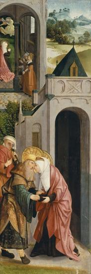 Panel of a Triptych with the Depiction of the Legend of Saint Joachim and Saint Anne-Master of Alkmaar-Giclee Print