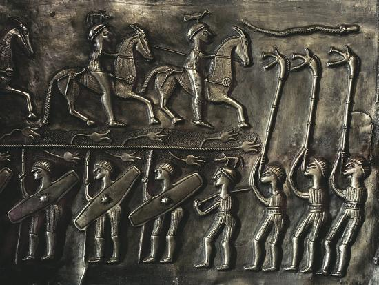 Panel of the Gundestrup cauldron, 2nd or 1st century BC-Werner Forman-Giclee Print