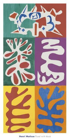 Panel with Mask, c.1947-Henri Matisse-Art Print
