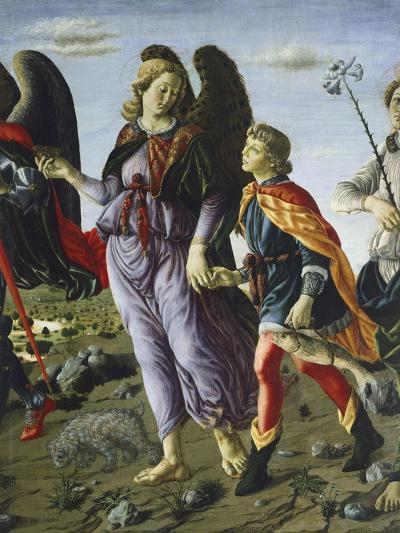 Panel with Three Angels and Tobias, Circa 1470-Francesco Botticini-Giclee Print