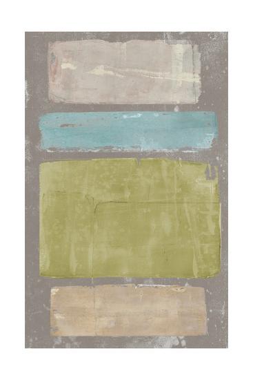 Panelled Colors II-Jennifer Goldberger-Art Print