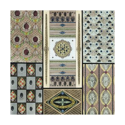 Panels and Borders with Stylized Floral Elements--Art Print