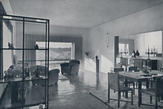 Paniconi and Pediconi. A dining room with a large window-Unknown-Photographic Print