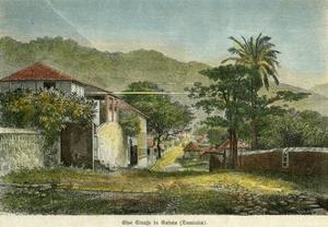 A Street in Roseau, Dominica, C1880 by Pann