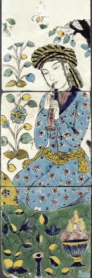 Panneau au flûtiste--Giclee Print