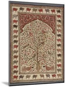 Panneau peint (pichvai) à l'arbre de vie