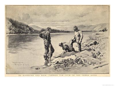 Panning Gold on the Yukon River Klondike Canada-C.e. Fripp-Giclee Print