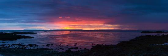 Panorama, Akranes, Sunset-Catharina Lux-Photographic Print