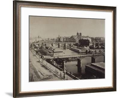 Panorama de Paris, vers le Pont-Neuf-Gray Gustave Le-Framed Giclee Print