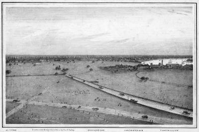 Panorama of Calcutta, India, C1840S-Frederick Fiebig-Giclee Print