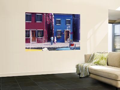 Panorama of Colourful Houses, Burano, Venice, Veneto, Italy-Doug Pearson-Wall Mural