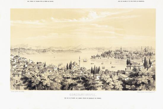 Panorama of Constantinople, with Two Views of Buyukdere, 1838-1845--Giclee Print