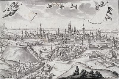 Panorama of Gdansk-Frederich Wener-Giclee Print