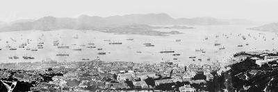 Panorama of Hong Kong Harbour, C.1878--Photographic Print