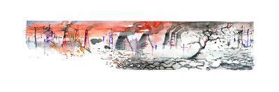 Panorama of Industrial Area-okalinichenko-Art Print