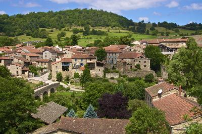 Panorama of Lavaudieu, a Medieval Village, Auvergne, Haute Loire, France, Europe-Guy Thouvenin-Photographic Print
