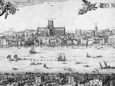 Panorama of London, 1616-Claes Jansz Visscher-Giclee Print