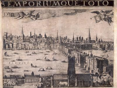 Panorama of London, 1629-Francesco Valesio-Giclee Print