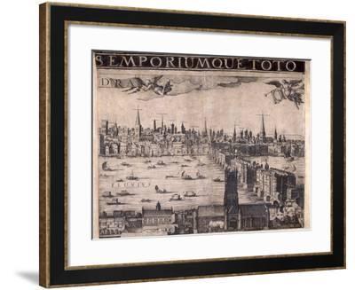 Panorama of London, 1629-Francesco Valesio-Framed Giclee Print