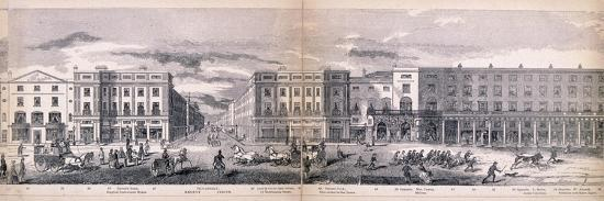 Panorama of London, 1849-George C Leighton-Giclee Print
