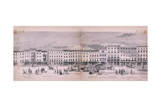 Panorama of London, 1849-George C Leighton-Giclee Print