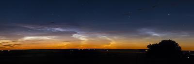 Panorama of Noctilucent Clouds in Alberta, Canada-Stocktrek Images-Photographic Print