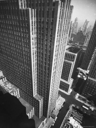 Panorama of RCA Building at Rockefeller Center Between 49th and 50Th, on the Avenue of the Americas-Andreas Feininger-Photographic Print