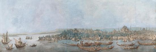 Panorama of Sarayburnu, Late 18th Cent.-Louis-François Cassas-Giclee Print