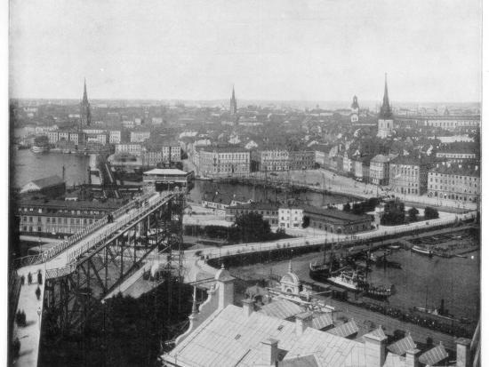 Panorama of Stockholm, Sweden, Late 19th Century-John L Stoddard-Giclee Print