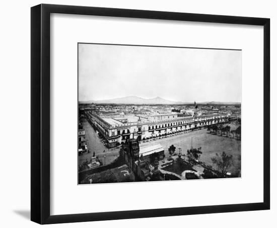 Panorama of the City of Mexico, 1893-John L Stoddard-Framed Giclee Print