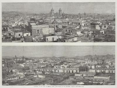 Panorama of the City of Mexico--Giclee Print