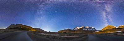 Panorama of the Columbia Icefields and Athabasca Glacier at Moonrise-Stocktrek Images-Photographic Print