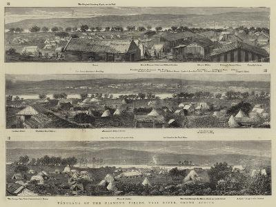 Panorama of the Diamond Fields, Vaal River, South Africa--Giclee Print
