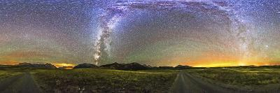 Panorama of the Milky Way and Night Sky at Waterton Lakes National Park, Canada-Stocktrek Images-Photographic Print