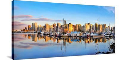 Panorama of Vancouver Skyline--Stretched Canvas Print