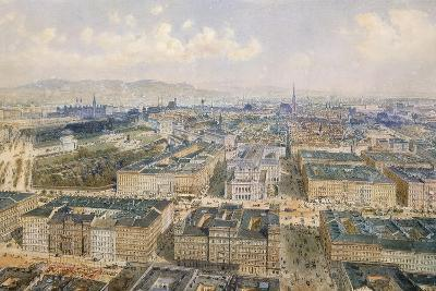 Panorama of Vienna, 1871-Rudolph von Alt-Giclee Print