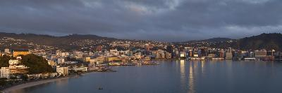 Panorama of Wellington City and Harbour-Nick Servian-Photographic Print