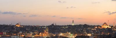 Panorama. Suleymaniye Mosque, the Blue Mosque and Hagia Sophia. the Golden Horn. Istanbul. Turkey-Tom Norring-Photographic Print