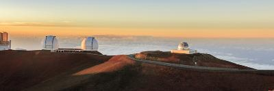 Panorama. Sunset at Maunakea Observatory. Hawaii. Usa-Tom Norring-Photographic Print