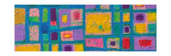 Panorama Texture, Background And Colorful Image Of An Original Abstract Painting On Canvas-opasstudio-Art Print