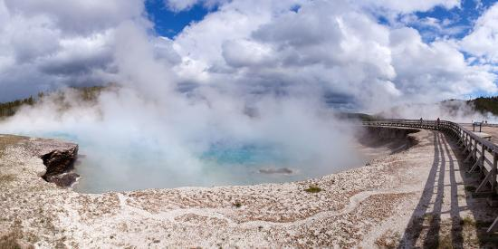 Panorama, USA, Yellowstone National Park, Excelsior Geyser-Catharina Lux-Photographic Print