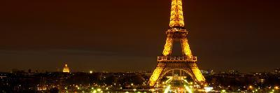 Panoramic Cityscape Paris with Eiffel Tower at Night-Philippe Hugonnard-Photographic Print