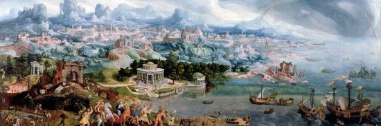 Panoramic Fantasy with the Abduction of Helen, 1535-Maerten van Heemskerck-Giclee Print