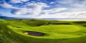 18th Green at Brora Golf Club, Moray Firth, Brora, Scotland by Panoramic Images