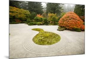 Autumn, Zen garden, Japanese garden, Portland, Oregon, USA by Panoramic Images